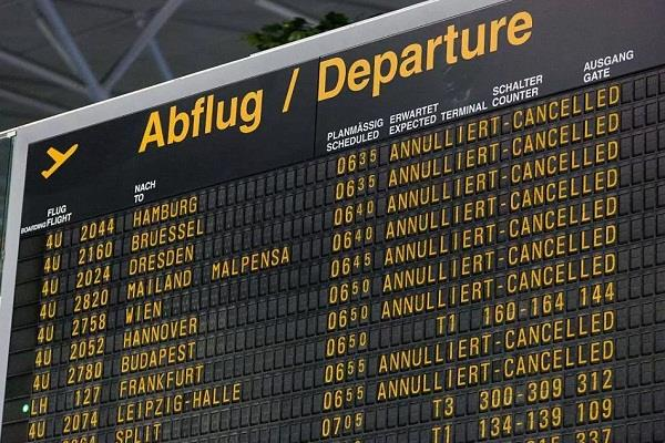 delay in europe flights due to computer failure