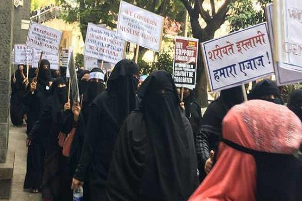 muslim women in mumbai protest against three divorce bill