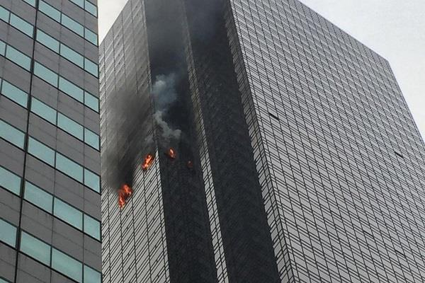 new york 50th floor of the trump tower fires no casualties