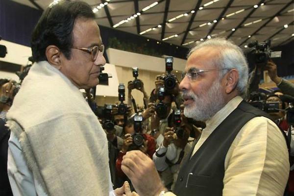 modi government behind chidambaram