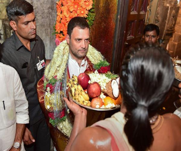 did rahul first go to the temple svatantr dev singh