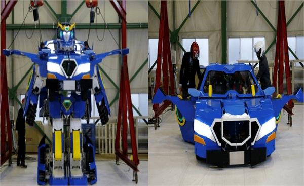 japanese engineers build robot that transforms into car
