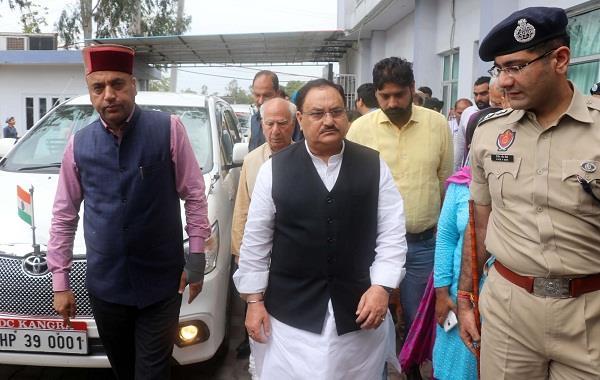 chief minister jairam nadda has arrived to meet injured children