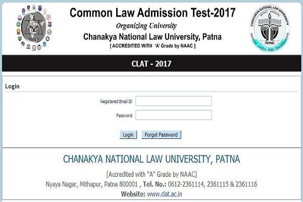 today admission test clat admit card
