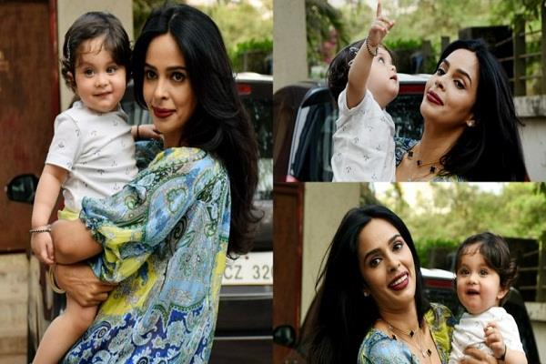 mallika sherawat nephew ransher cute pictures