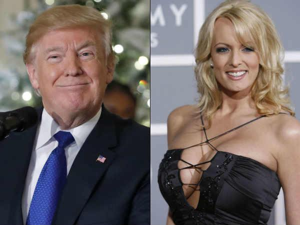 trump smiled on the relationship with porn star