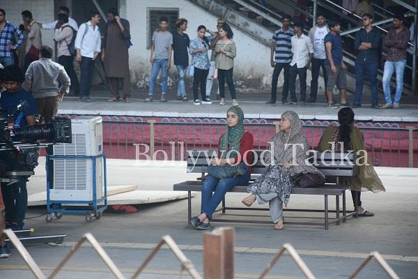alia bhatt shoot for gully boy at mumbai railway station