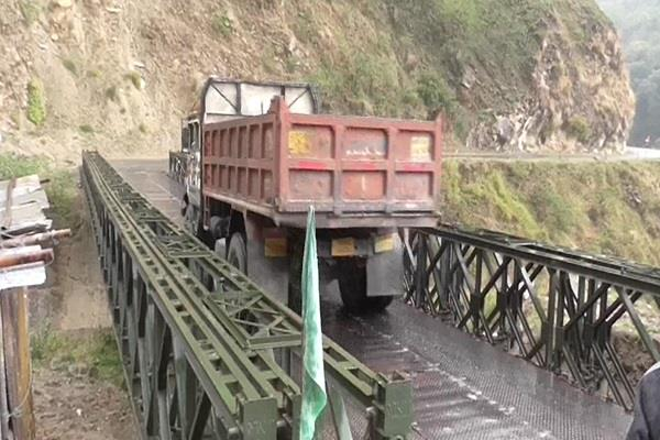 preparation to increase the load capacity of the valley bridge