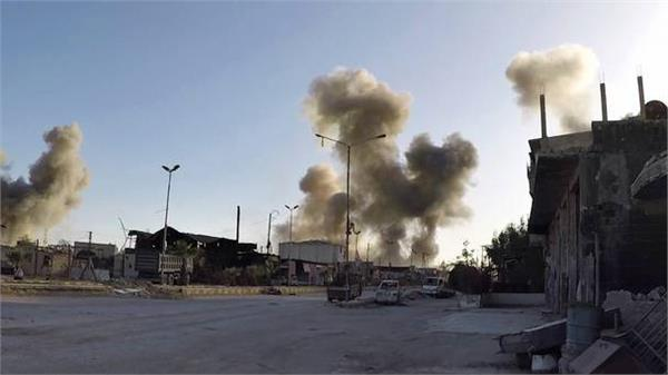 syrian air defenses shoot down missiles over 2 air bases