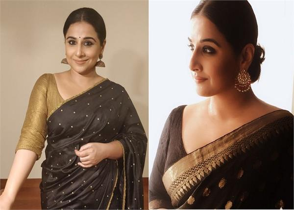 vidya balan s beautiful brown sari will make you ditch your jeans for desi wear