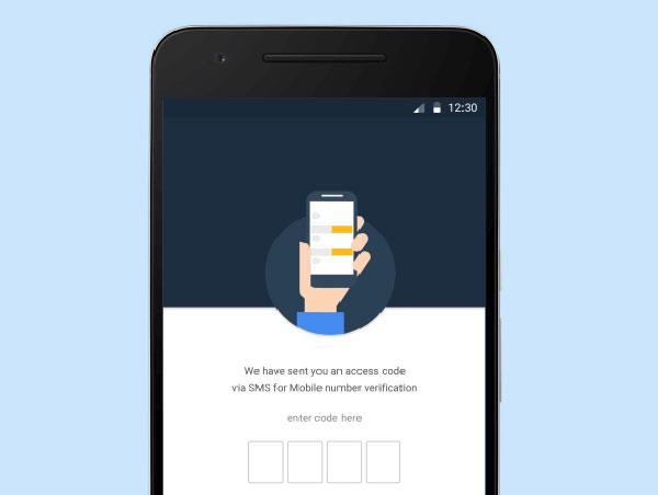 sms aadhaar card