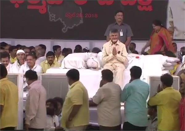 naidu sitting on fast against the center on his birthday
