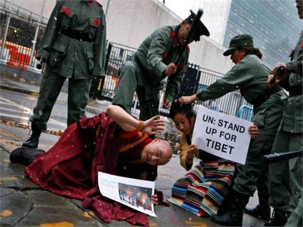 tibetans are being killed and thrown into the river by chinese soldiers