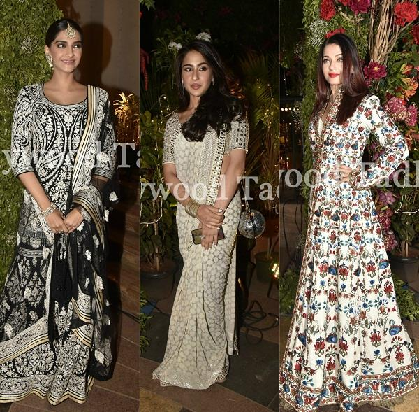 stars at wedding reception of designer abu jani sandeep khosla relative