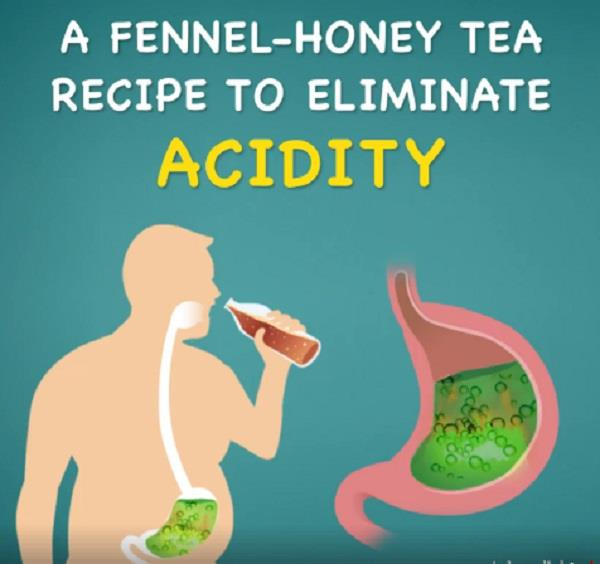 a fennel honey tea recipe to eliminate acidity