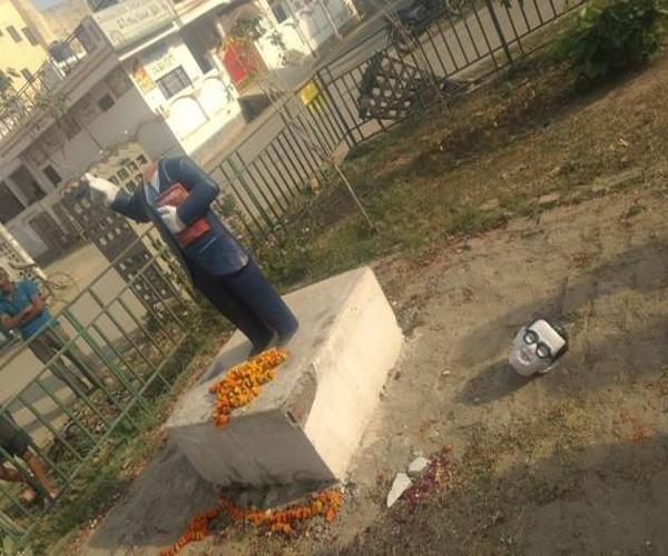 no stopping the demise of ambedkar statue now scattered in noida