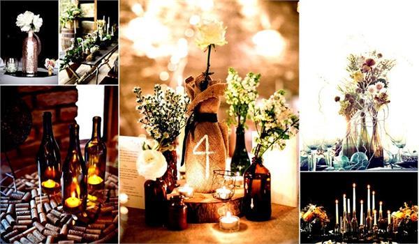 शादी को बनाएं खास, करें वाइन की बोतलों से डैकोरेशन