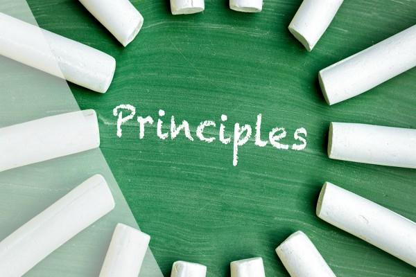 do not abandon your principles