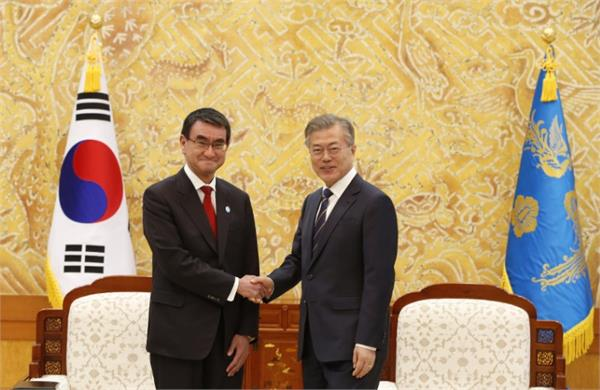 japan s foreign minister on the trip to south korea