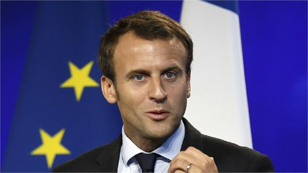 2 people arrested by french president macroon drunken people