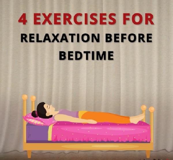 4 exercises for relaxation before bedtime