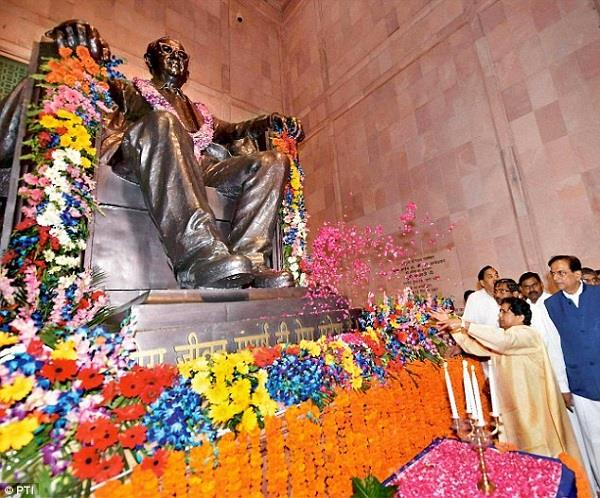 political rivalry showing ambedkar s reverence