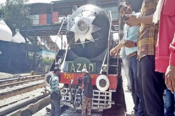 once again on the track azad india s first steam engine