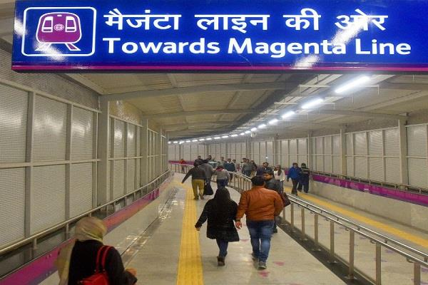 delhi metros magenta line to be inaugurated today