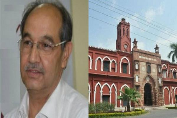 amu vice chancellor meets rajnath on jinnah s picture controversy