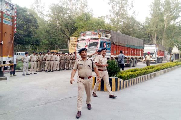 16 truck filled with cement out of cci industry in police secruity
