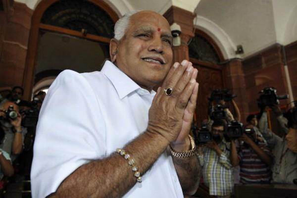 yeddyurappa sworn in as karnataka cm post