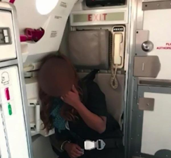 united airlines flight refunded over out of control air stewardess s foul