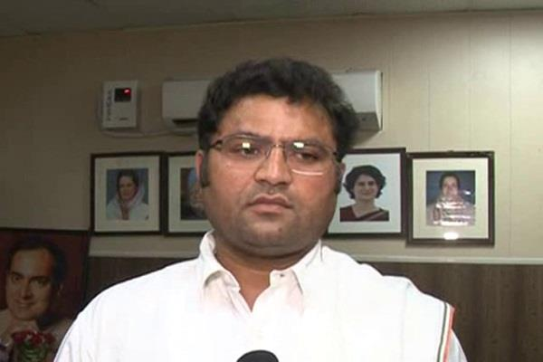 ashok tanwar target bjp government