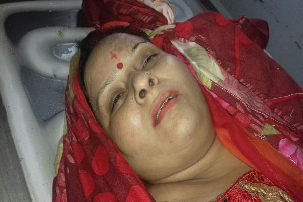 women dead in road accident