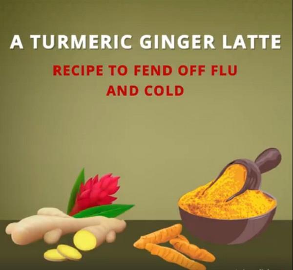 a turmeric ginger latte recipe to fend off flu and cold