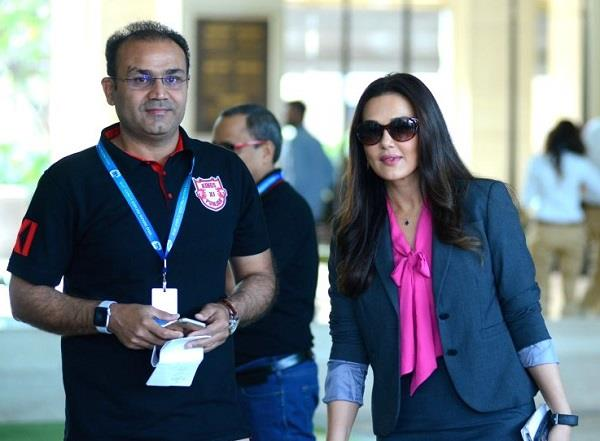 kxip clears about preity sehwag controversy