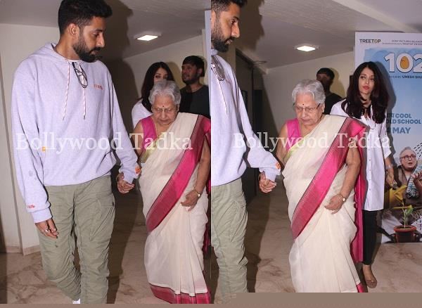 amitabh bachchan mother in law indira bhaduri watched 102 not out