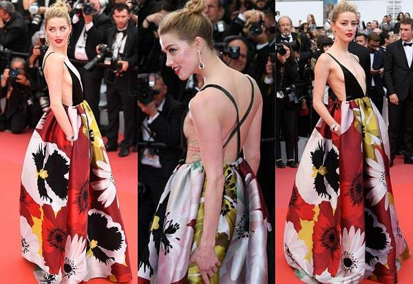 amber heard bold look at cannes film festival 2018