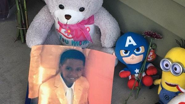 a gun full of toys packed in a toy 7 year old child shot himself