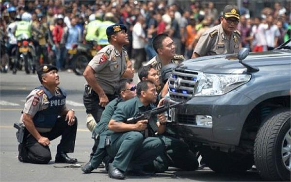 police shot dead four assailants in indonesia