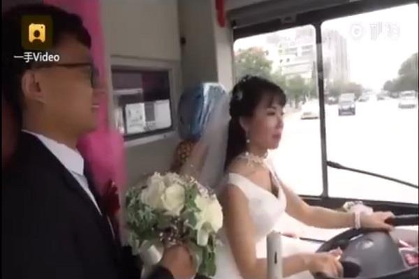the bride herself took out her procession took the groom along the way pick up