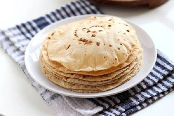 in indian kitchen cooked pakistani chapati