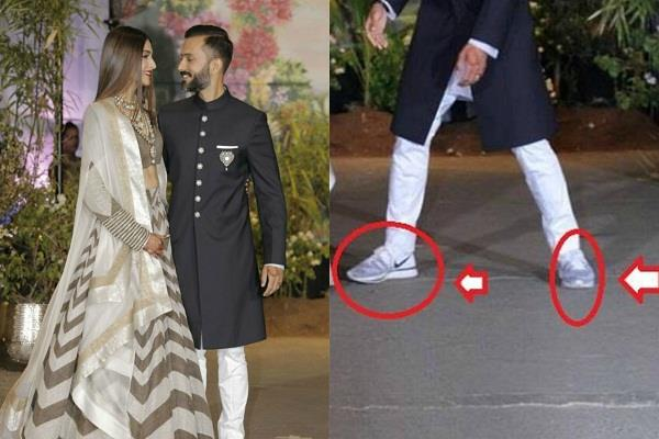 sonam reply trolling of anand in sport shoes