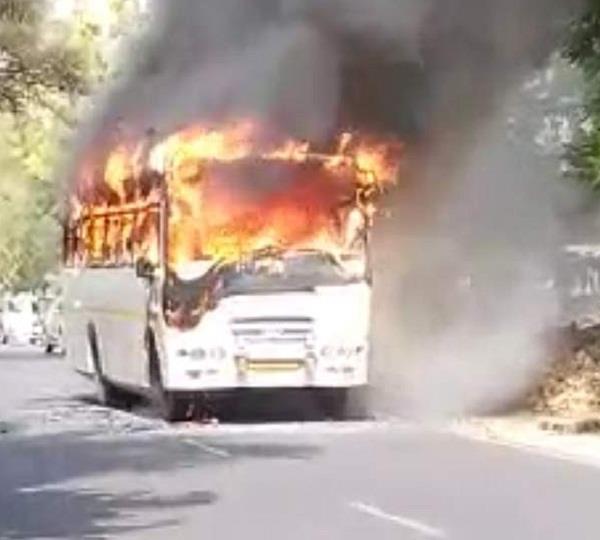 fire in bus