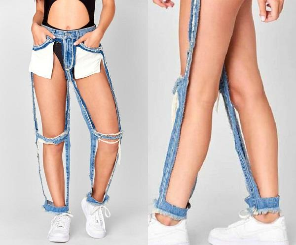 extreme cut out jeans price
