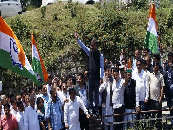 congress party fury rally in dharamsala