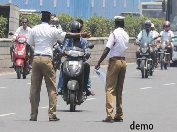 invoices cut daily on violation of traffic rules