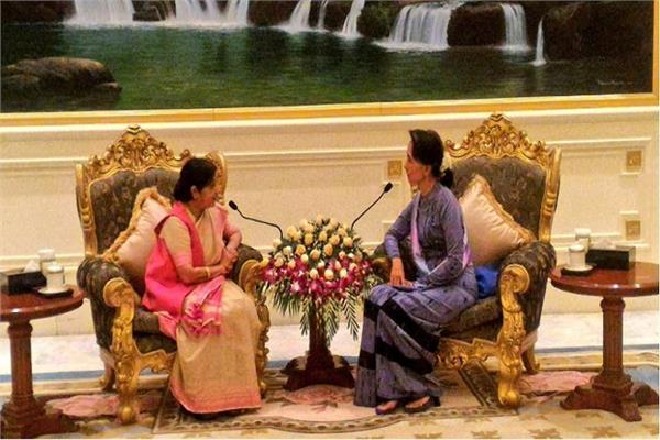 sushma s meeting with sue discussions on bilateral relations