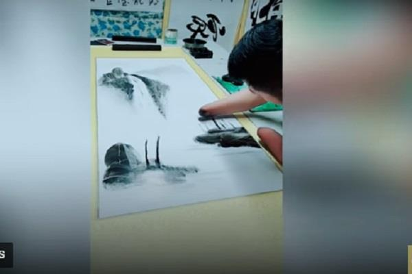 this man paints without hand see this video