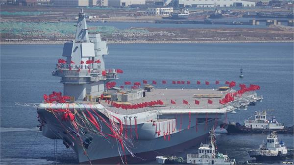 china launches 1st indigenous aircraft carrier amid south china sea